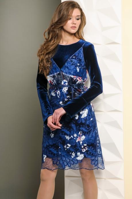 Вечерние платья Golden Valley 4435 темно-синий