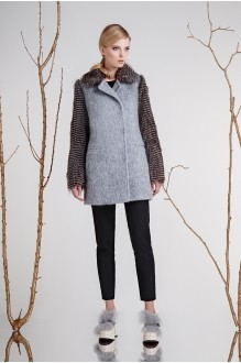 Пальто Prestige 3259 с серым фото 1