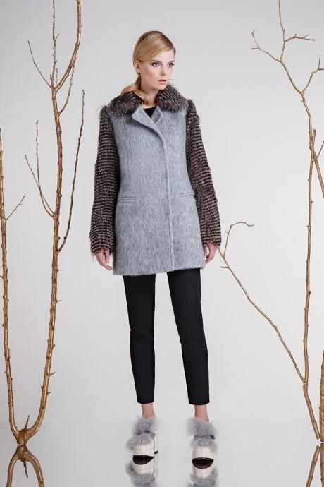 Пальто Prestige 3259 с серым