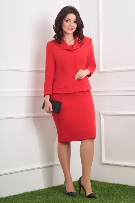 Деловые платья Мода-Юрс 2370 красный