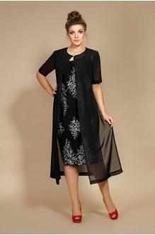 Модель Мублиз 106 черный (платье+накидка)