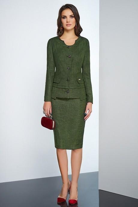 Юбочные костюмы /комплекты Lissana 3254 зеленый