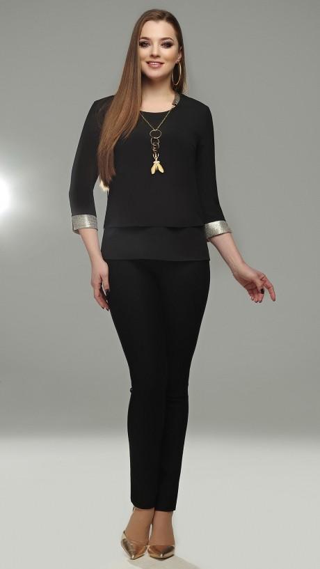 Блузки и туники DiLiaFashion 0099 чёрный