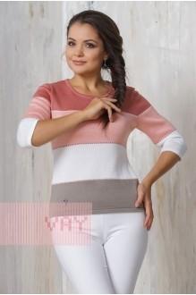 *Распродажа VAY 4381 серо-коричневый/персик/белый/т. клевер