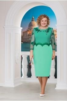 Нинель Шик 5593 юбка светло-зеленый/верх зеленый