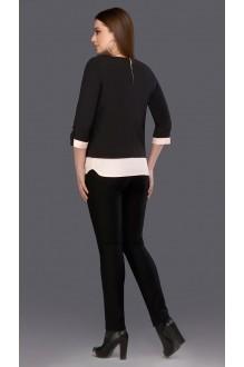 Блузки и туники DiLiaFashion 0086 чёрный+пудра фото 2