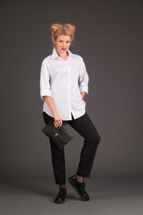 Блузки и туники Elletto 3073 белый