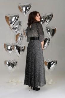 Длинные платья, платья в пол Anastasia 063 а черный с белым  фото 2