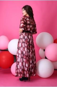 Длинные платья Anastasia 062.1 бордо с розовым фото 3