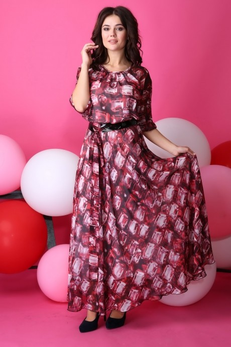 Anastasia 062.1 бордо с розовым