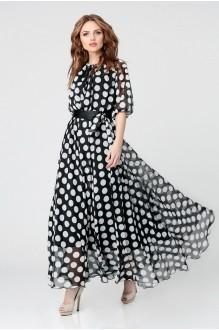 Длинные платья, платья в пол Anastasia 062.1 черно-белый фото 1