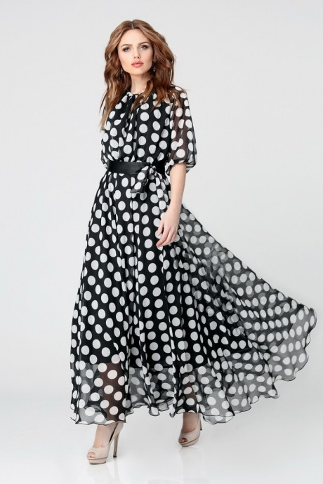 Длинные платья, платья в пол Anastasia 062.1 черно-белый