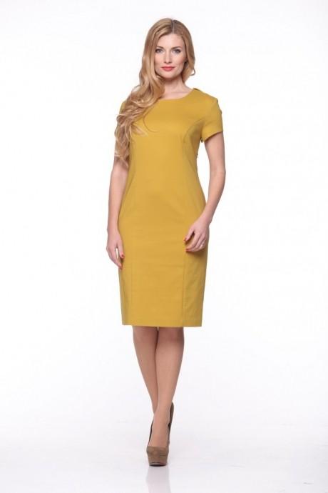 Повседневные платья Anastasia 074 горчица