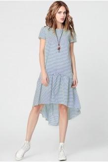 Повседневные платья Anastasia 073 синий горох фото 1