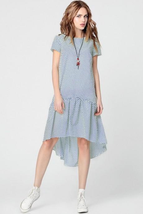 Повседневные платья Anastasia 073 синий горох