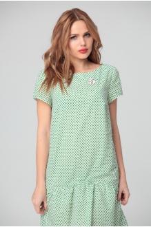 Повседневные платья Anastasia 073 зеленый горох фото 2