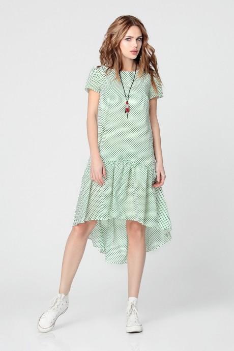Повседневные платья Anastasia 073 зеленый горох