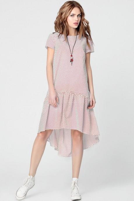 Повседневные платья Anastasia 073 красный горох