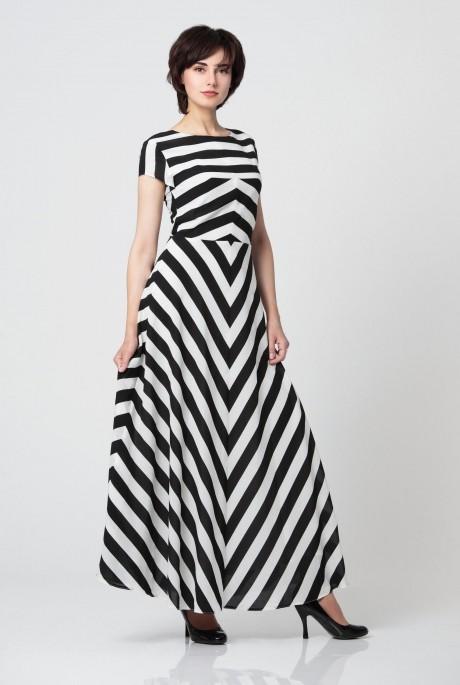 Длинные платья, платья в пол Anastasia 033 широкая полоска