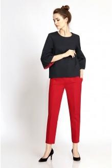PiRS 343 красные брюки/черный блузон