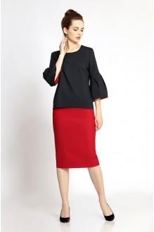 PiRS 345 красная юбка/черная блуза