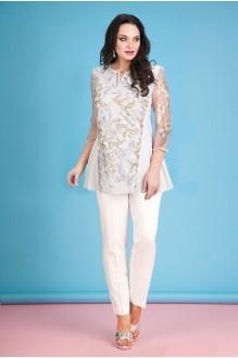 Лилиана 614В-N серебро+светлые брюки