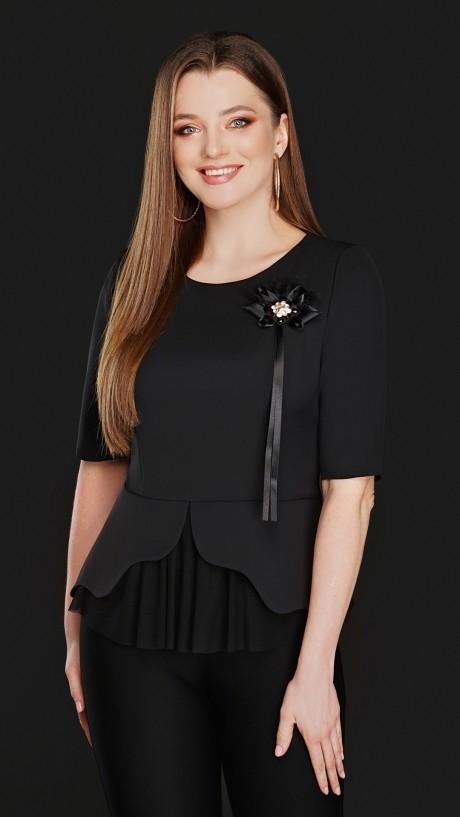 Блузки и туники DiLiaFashion 0104 чёрный