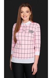 Блузки и туники DiLiaFashion 0084 -2 розовый фото 1
