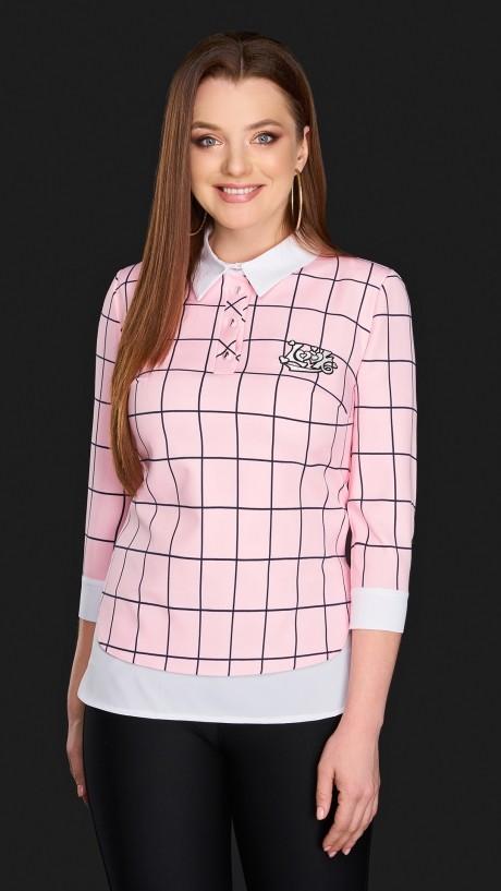 Блузки и туники DiLiaFashion 0084 -2 розовый