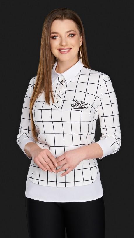 Блузки и туники DiLiaFashion 0084 белый