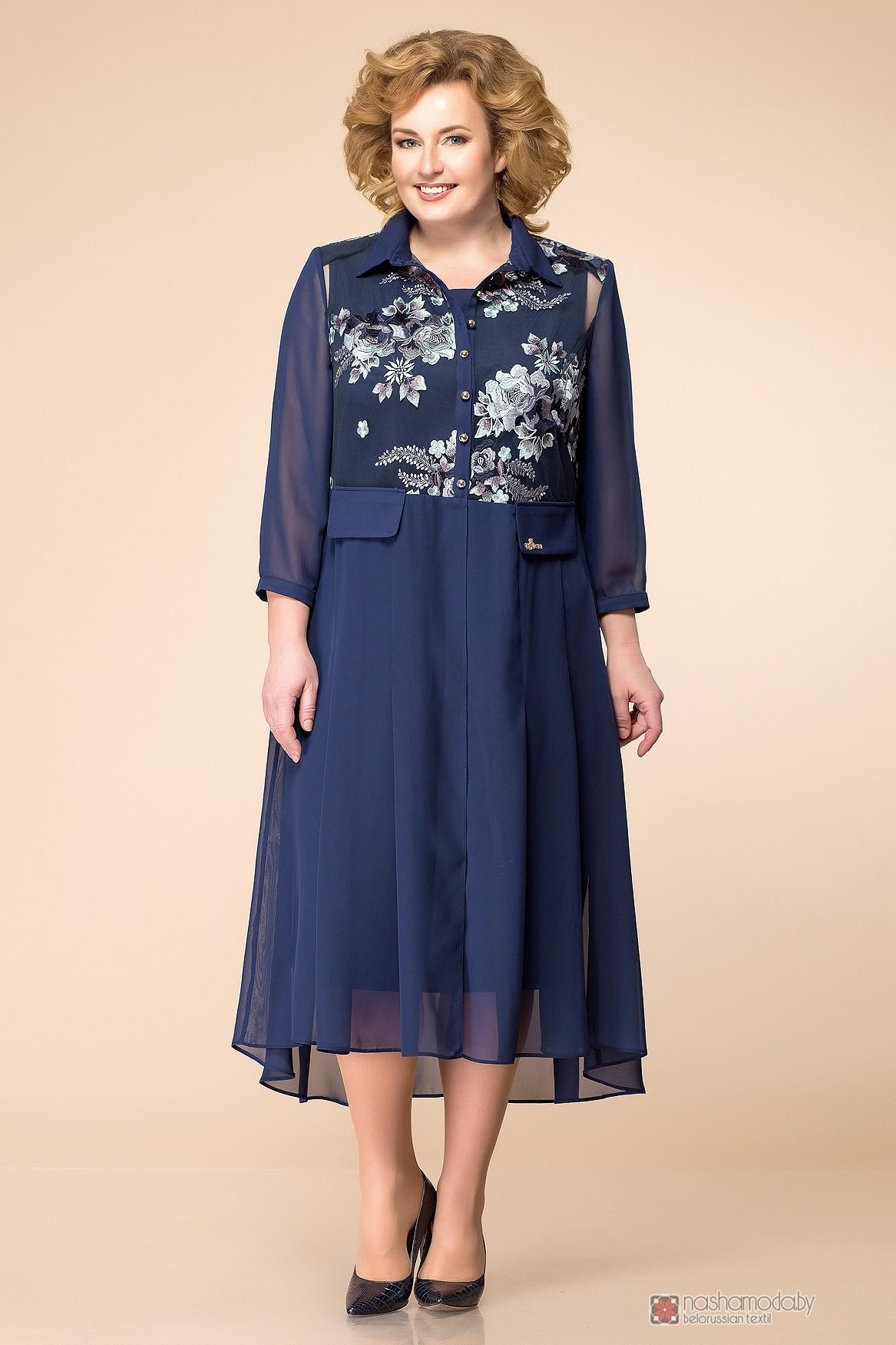 c27513b2cea Вечерние платья Romanovich Style 3-1490 синее кружево