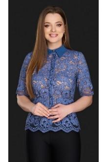 Блузки и туники DiLiaFashion 0106 синий фото 1