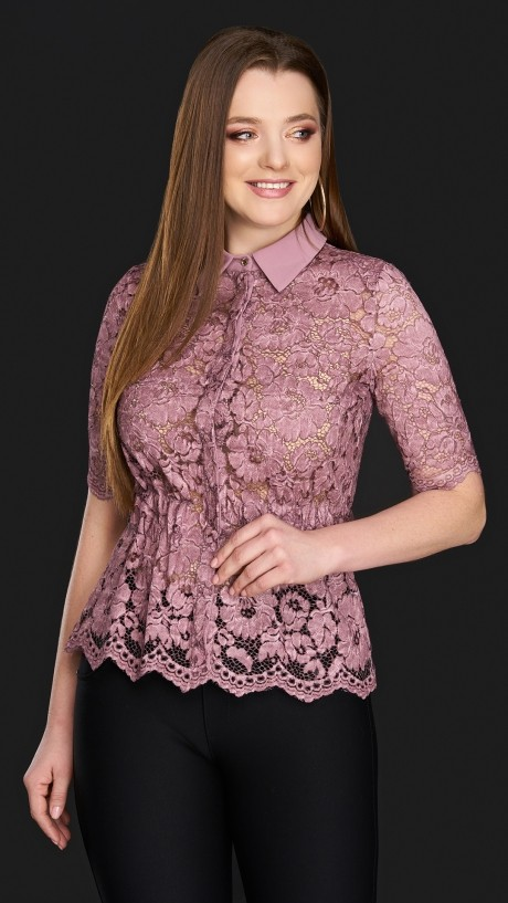 Блузки и туники DiLiaFashion 0106 розовый