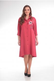 Повседневные платья Анастасия Мак 485 брусничный фото 1