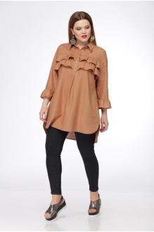 Блузки и туники Джерза 0198 коричневый фото 2