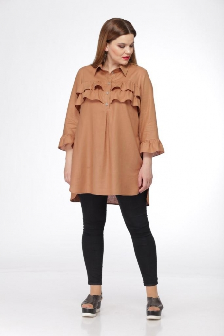 Блузки и туники Джерза 0198 коричневый