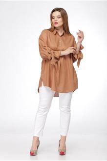Блузки и туники Джерза 0199 коричневый фото 2