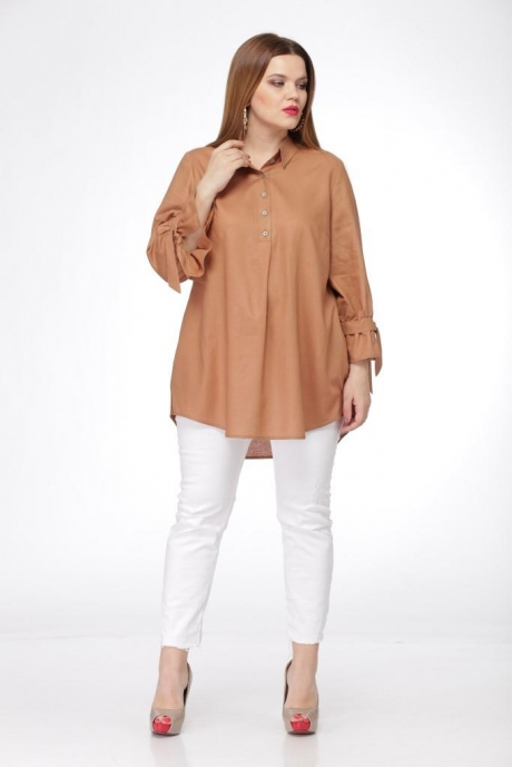Блузки и туники Джерза 0199 коричневый