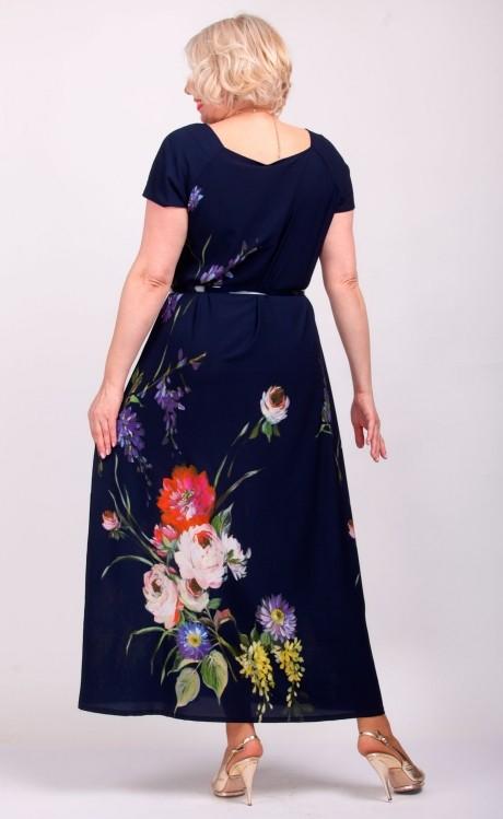 Camelia 15259/2 т-синий+цветы
