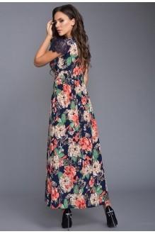 Длинные платья, платья в пол Teffi Style 1317 индиго фото 3
