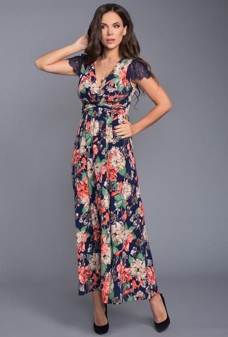 Длинные платья, платья в пол Teffi Style 1317 индиго