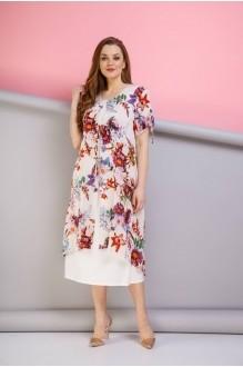 Anastasia 191 молочный в цветы