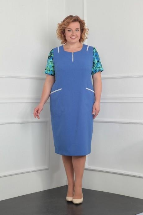 Летние платья Milana 922 голубой