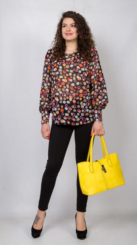 Блузки и туники TricoTex Style 01-18 блуза горох