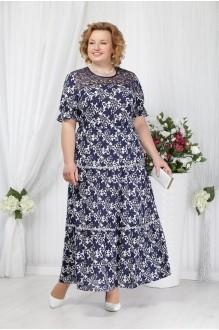 Нинель Шик 2151 темно-синие цветы