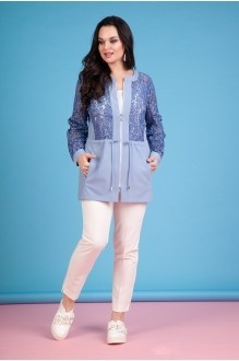 Лилиана 636В голубой/белый