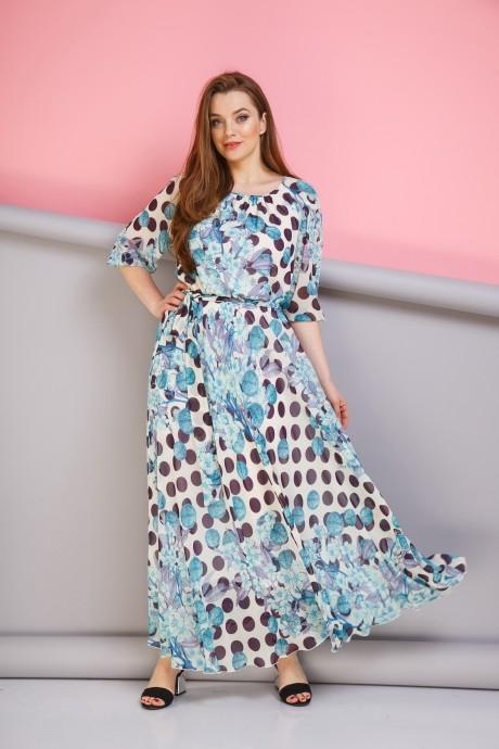 Длинные платья, платья в пол Anastasia 062 голубой