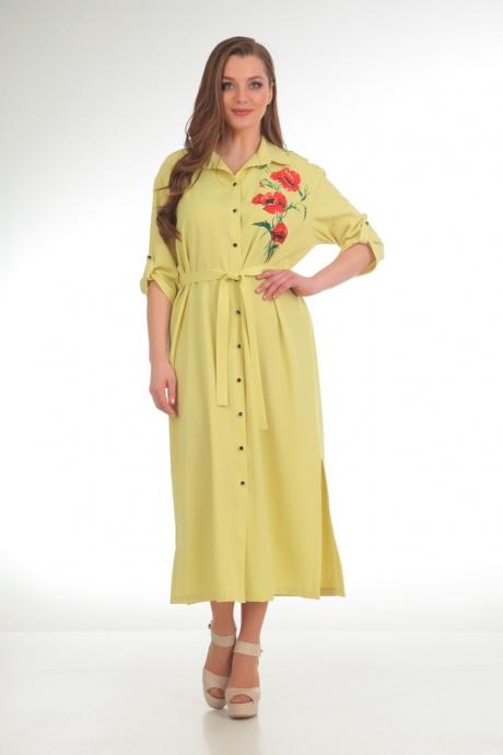 Длинные платья, платья в пол Анастасия Мак 486 желтый