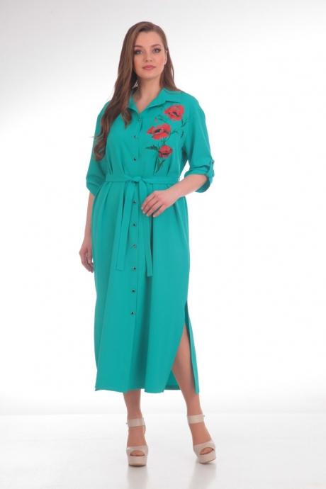Длинные платья Анастасия Мак 486 бирюзовый