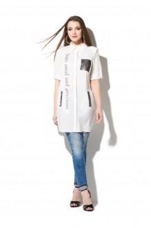 Блузки и туники DiLiaFashion 0107 белый фото 1